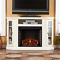 Bowery Hill 48 Convertible Electric Fireplace TV Stand in Ivory