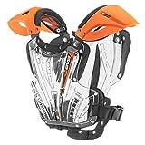 EVS Sports Unisex-Adult Vex Chest Protector (Orange/Clear,Medium)