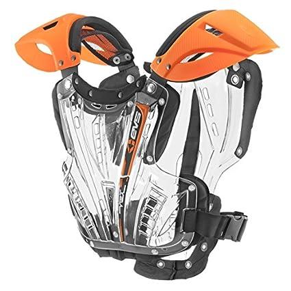 EVS Sports Unisex-Adult Vex Chest Protector Orange//Clear,Medium