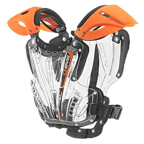 EVS Sports Unisex-Adult Vex Chest Protector (Orange/Clear,Large) by EVS Sports (Image #1)