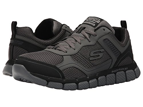 [SKECHERS(スケッチャーズ)] メンズスニーカー?ランニングシューズ?靴 Skech-Flex 2.0 Disby Charcoal/Black 12 (30cm) D - Medium