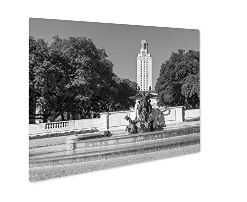 Ashley Giclee University Of Texas At Austin, Wall Art Photo Print On Metal Panel, Black & White, 24x30, Floating Frame, - Clock Marble Arch
