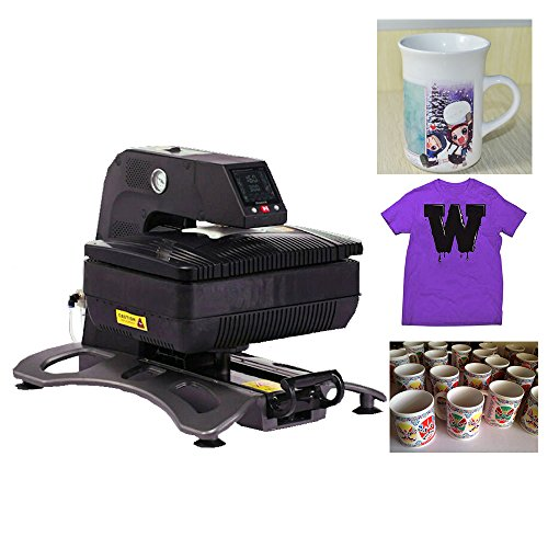 Price comparison product image Zorvo Multiple Auto Pneumatic 3D Sublimation Vacuum Heat Press Transfer Machine,Digital Swing Away Transfer T Shirt Hat Mug (110V)