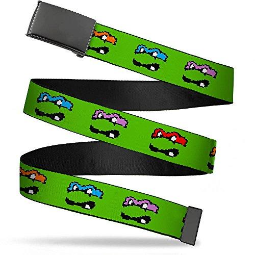 Buckle-Down Men's Buckle-Down Web Belt Ninja Turtles 1.25