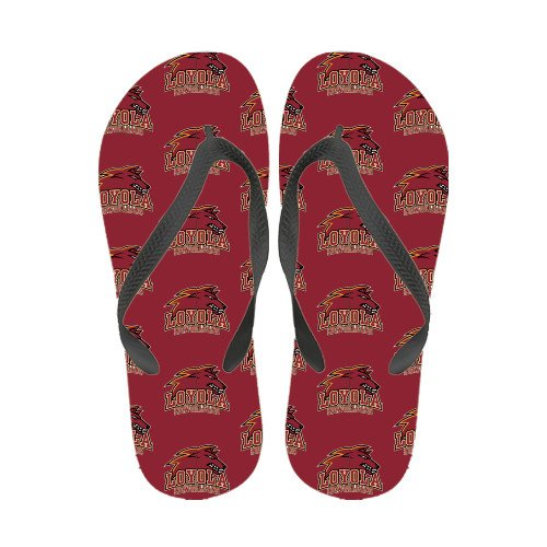 Loyola New Orleans Ladies Full Color Flip Flops Logotipo Oficial