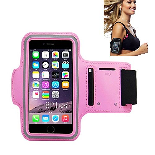 iPhone 6 Armband, Morris Water Resistant Sports Armband with Key Holder for iPhone 6, 6S (4.7-Inch), Galaxy S3/S4, iPhone 5/5C/5S, Bundle with Screen Protector (Pink)