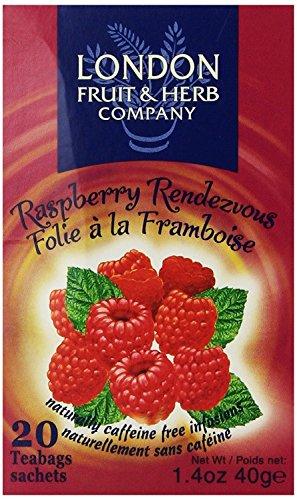 London Fruit & Herb Company Raspberry Rendezvous Tea, 20 Tea Bags (6 Packs)