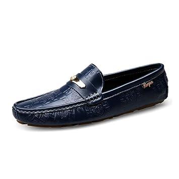 HhGold Zapatos de Cuero para Hombre Verano/otoño Mocasines cómodos y Zapatillas sin Cordones Zapatillas