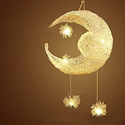 Moon Star Chandelier,LUOLAX Creative Modern Pendant Lamp Home Ceiling Light for Balcony,Bedroom,Dining Room 110V