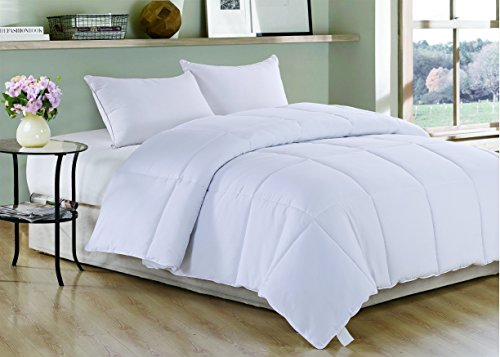 White Polyester Medium Warmth Twin Down Alternative Comforter Duvet Insert,68
