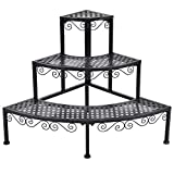 Corner Metal 3Tier Flower Pot Pots Rack Plant Shelf Display Stair Step Ladder