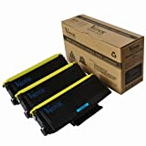 Brother Compatible TN-580 TN580 Laser Toner Cartridge, 7,000 Pages – 3 Pack – Black, Office Central