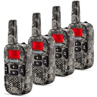 Aautoo Set of 4 Walkie Talkies For Kids Toddlers Adults Portable Handheld Walky Talky 22 Channel FRS/GMRS 2 Way Radio For Outdoor Explore Adventure Long Range Up to 6 km Camouflage