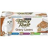 Purina Fancy Feast Gravy Lovers Wet Cat Food Variety Pack - 85 g (12 Pack)