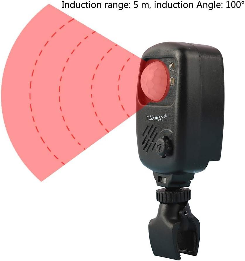 EFINNY Alarma de Pesca Sensor de Infrarrojos de Pesca Alarma de Sonido Detector de Movimiento inalámbrico Alarmas de mordida Alerta de Pesca de Carpa para Pesca Camping Caza El Volumen Día y Noche