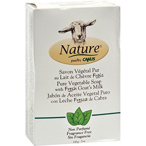 - Canus Goats Milk Bar Soap - Fragrance Free - 5 oz - (Pack of 3)