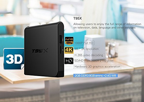 Zbfyzq T95x Network Television Set-top Box S905X hd Network Player 2G + 16G Android 6.0 by zbfyzq (Image #8)