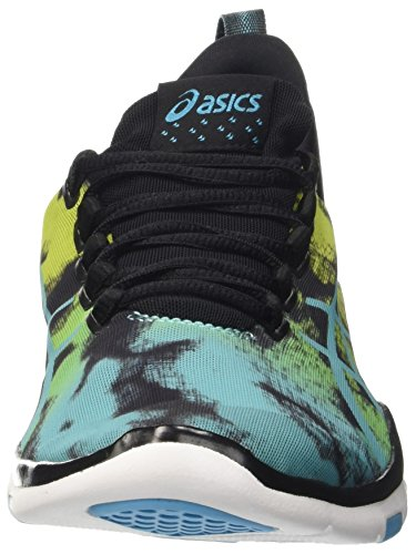 Asics Damen Gel-Fit Sana 2 Gymnastik Mehrfarbig (Black/Aquarium/Neon Lime)