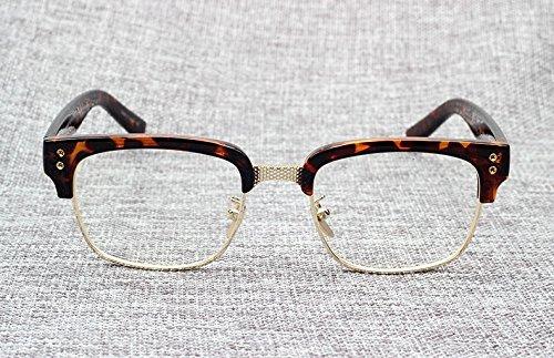 de Gafas brillante Optical Statesman The Beckham gafas Oculos la negro con Leopard Fashion Sol Grau Gold de vintage sol de diseño dorado de marco marca Myopia Aprigy qIwgOTxE