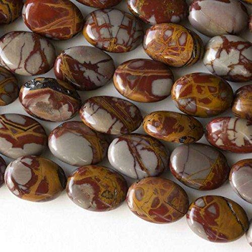 Cherry Blossom Beads Noreena Jasper Beads 10x14mm Smooth Oval - 16 Inch Strand ()
