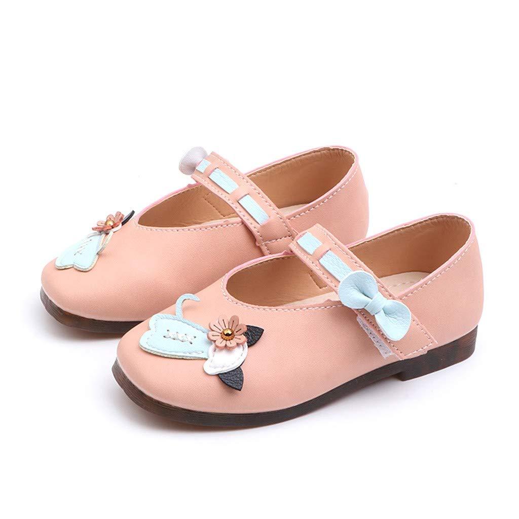 ZARLLE Zapatos para ni/ñas Princesa Zapatos peque/ños Zapatos Solos Zapatos de Princesa de Fiesta Zapatos de Cuero de Cristal para ni/ñas