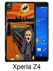 Scream Joker Batman Funny Oil Painting Black Sony Xperia Z4 Screen Phone Case Genuine and Luxury Design