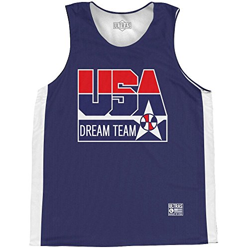 USA Dream Team Basketball Practice Singlet Jersey, Navy, Adult Large