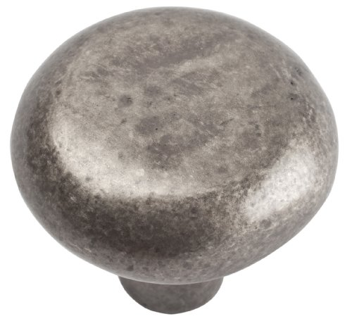 Atlas Homewares 331-P Distressed Collection 1.38-Inch Round Knob, Pewter