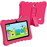 KOCASO [7 INCH] Quad Core Android 4.4 KitKat Kids HD Tablet PC- 8GB Storage W/ 32GB Expandable Memory, 1GB RAM, 1024x600, Dual Camera, WiFi/Bluetooth, Micro USB/SD Card Slot/Free Accessories- Pink