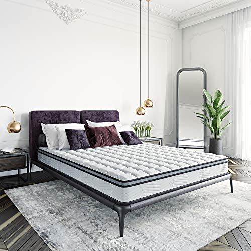 Classic Brands Carleton Bonnel Innerspring Firm 8-Inch Mattress | Bed-in-a-Box Queen
