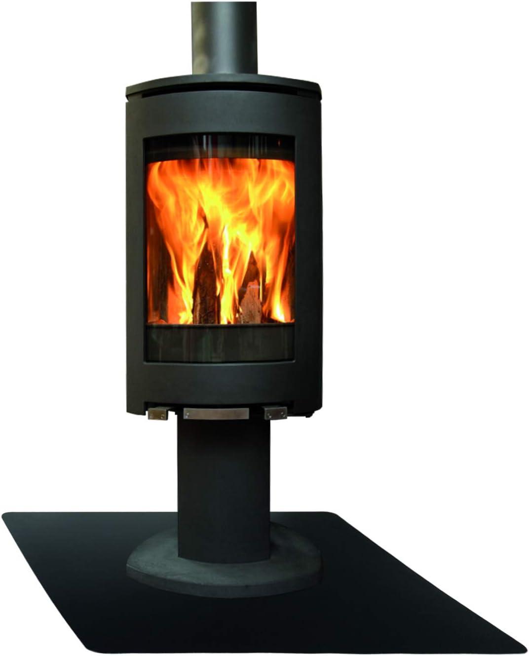 Plaque de sol de cheminée en acier noir