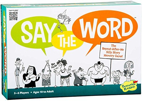 Peaceable Kingdom Say The Word Cooperative Silly Story Memory Game
