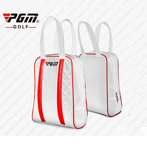 PGM Lady Golf Shoes Bag Made of PU Leather,Waterproof (white) by PGM (Image #1)