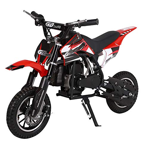 V-Fire 2-Stroke 49CC Kids Gas Dirt Bike, Red