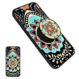 iphone 5 cases customized - iPhone 5/5s/SE Mandala Case [Scratch/Dust Proof] Shock-Absorption TPU Bumper Soft-Touch Thin & Flexible Customized Phone Case with Pop Stand - Mandala1