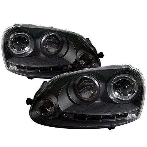 Spyder Auto PRO-YD-VG06-HL-BK Volkswagen GTI/Jetta/Rabbit Black Halo LED Projector Headlight