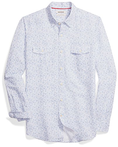 Amazon Brand - Goodthreads Men's Slim-Fit Long-Sleeve Linen and Cotton Blend Shirt