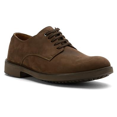Clarks Riston Plain Brown Leather Men
