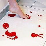 RoseSummer Horror Movie Blood Bloody Footprints Non-slip Rugs Bathroom Floor Shower Rugs
