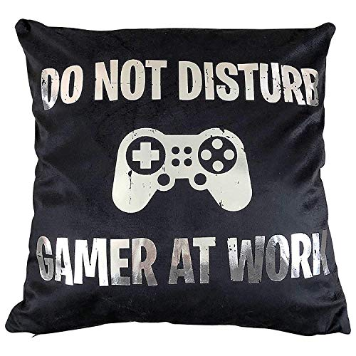 - Funny Party Pieces Do Not Disturb Gamer at Work Cushion Cover - Great Gift for A Gaming Fan