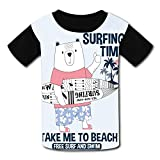 riverccc6.1500 Sufer Bear Take Me to Beach Youth T-Shirt Boys Girls Tee