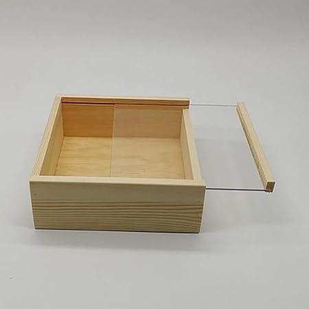 Caja Profunda Cuadrada 3D, Caja De Muestras De Insectos/Plantas, Caja De Memoria De Pantalla, Marco De Madera Transparente,S: Amazon.es: Hogar