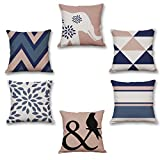 Onway 18 X 18 Inch Cotton Linen Square Pillow Cases Colorful...