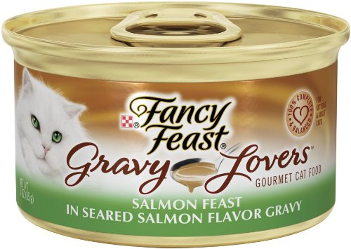 Purina Fancy Feast Gravy Lovers, Salmon, 3-Ounce (Pack of 24), My Pet Supplies