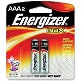 Energizer E92BP-2 Energizer AAA Alkaline General Purpose Battery - AAA - Alkaline - 1.5 V DC