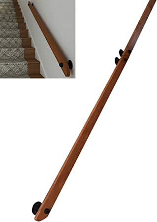 LTFS Pasamanos de la Escalera, Barandilla de Escalera de Madera, Decorativa Interior,Hermoso,Anti-caída, Fácil de Instalar, Personalizable: Amazon.es: Hogar