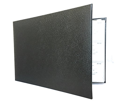 Officewerks Premium Check Binder, Sleek Black Textured Vinyl Cover, 7 Ring w/Zip Pouch and Calendar, For 9x13 Inch Sheets