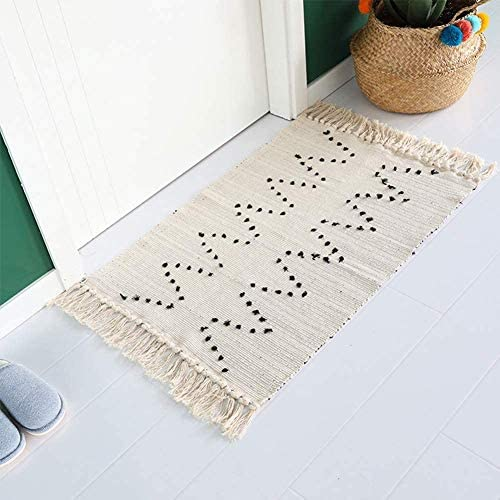 Breezsisan Cream Cotton Rug Tassel