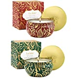 LA JOLIE MUSE Scented Candles Set 2 Fir Cedarwood & Cinnamon Pumpkin, Natural Soy Wax, Winter Gift Collection for Christmas