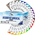 Mixed Sutures Thread With Needle Absorbable Chromic Catgut Non Absorbable Nylon Silk Polyester Polypropylene Surgical Wound Practice Kit Emergency First Aid Demo 2 0 3 0 4 0 5 0 24pk
